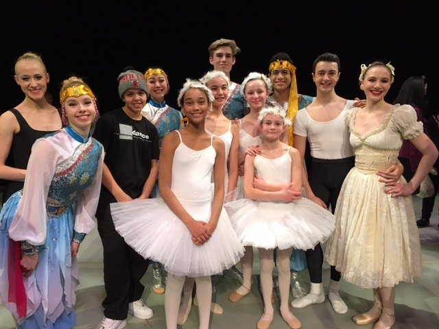 Citadel Dance Program dancers perform with The National Ballet of Canada
